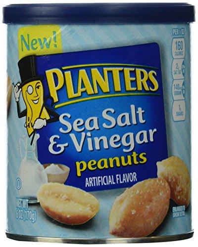 Planters Flavored Peanuts, Sea Salt and Vinegar, 6 Ounce