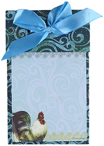 Artisan Bohemian Rooster Ribbon Note Pad by Susan Winget, 4.25 x 6.75 Inches (2009507)