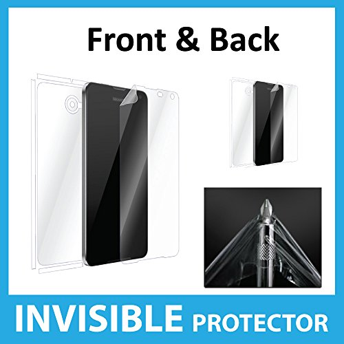 Microsoft Nokia Lumia 650 Screen Protector Full Body INVISIBLE Film Shield (Front, Back & Sides included) Military Grade Protection Exclusive to ACE CASE