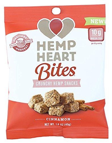 Manitoba Harvest Hemp Heart Bites, Cinnamon, 1.6 Ounce (Pack of 12)