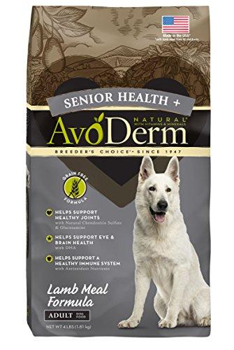 AvoDerm Senior Health Lamb Meal Grain Free Dry Dog Food, 4 lb