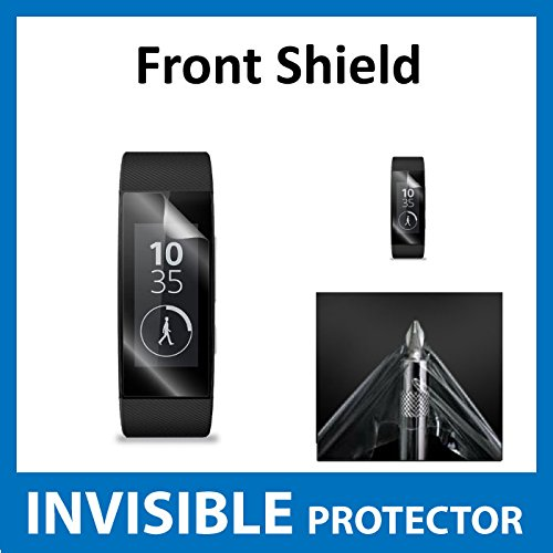 Sony SmartBand Talk SWR30 Front INVISIBLE Screen Protector Film (Front Shield included) Military Grade Protection Exclusive to ACE CASE