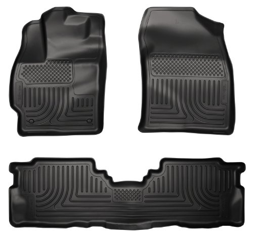 Husky Liners Custom Fit WeatherBeater Molded Front and Second Seat Floor Liner for Select Toyota Prius V Models (Black)