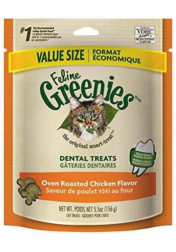 GREENIES Dental Treats for Cats, Oven Roasted Chicken, 5.5 Ounce