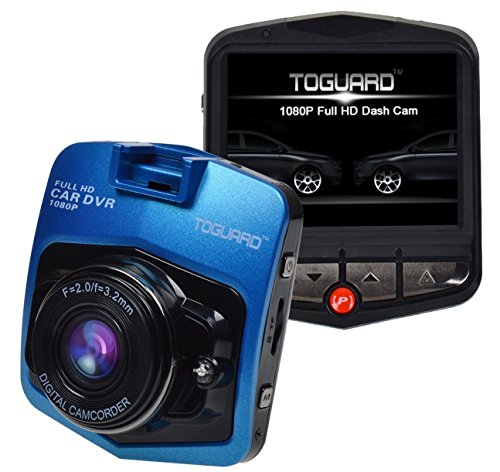 Blue TOGUARD 2.46 LCD Full HD 1080P Dashcam Car Dvr Camera,Novatek NT96220,G-sensor,Motion Detection,Loop Recording,Night Vision