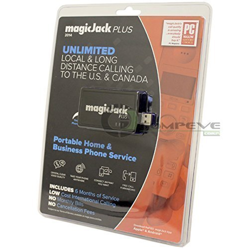MagicJack PLUS 2014 VoIP Phone Adapter Call Anywhere +6 Months FREE Service Magic Jack