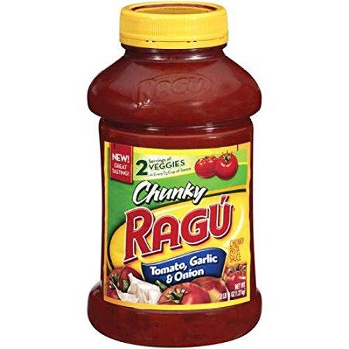 Ragu Pasta Sauce, Chunky, Tomato, Garlic & Onion, 45 oz