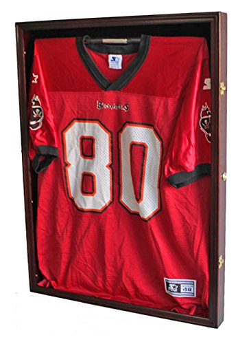 Ultra Clear PRO UV Basketball, Football, Hockey Jersey Frame Display Case, LOCKABLE, (JC01-MA)