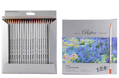 Marco Fine Art Colored Pencils/ Drawing Pencils for Sketch/ Secret Garden Coloring Book (Not Included)