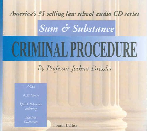 Sum & Substance Audio on Criminal Procedure, (CD)