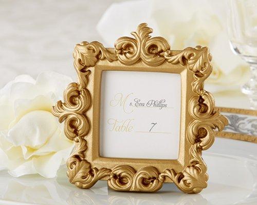 Kate Aspen Royale Baroque Place Card/Photo Holder, Gold
