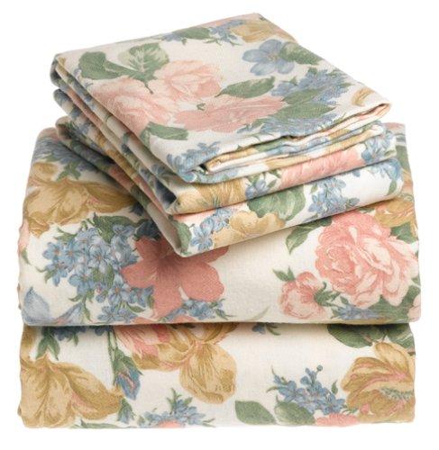 6-Ounce Luxury Weight Flannel Queen Sheet Set, Melrose