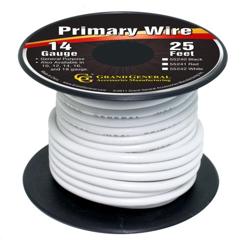 Grand General 55242 White 14-Gauge Primary Wire