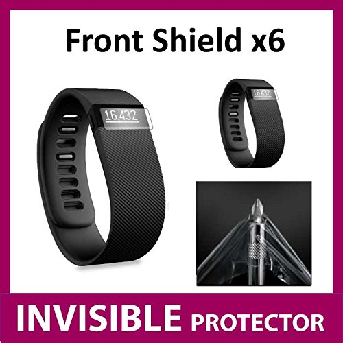 Fitbit Charge HR Fit Bit Watch Front INVISIBLE Screen Protector (X6 Front Shields included) Military Grade Protection Exclusive to ACE CASE