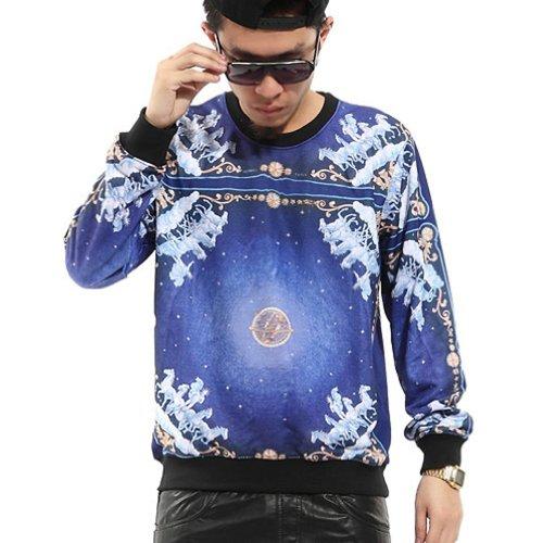 Zero Unisex Galaxy Religious Stereoscopic 3d Luxury Sweater T Shirts (L ( US Size M ), NO.2)
