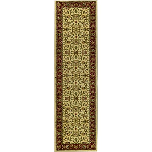 Safavieh Lyndhurst Collection LNH212K Ivory and Red Runner, 2 feet 3 inches by 20 feet (2'3 x 20')