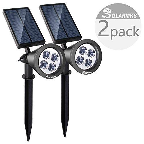 Solarmks SY-1104 Solar Spotlight 4 Led Bright Solar Landscape Lighting ,Pack of 2