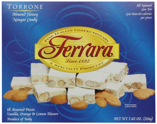 Ferrara Torrone, Almond Honey Nougat Candy, 7.62-Ounce Boxes (Pack of 4)