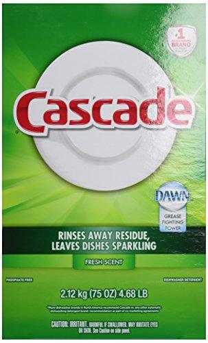 Cascade Powder Dishwasher Detergent Fresh Scent, 75 OZ (Pack of 7)