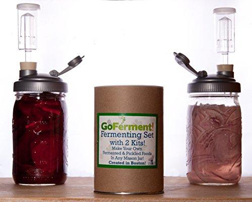Go Ferment! Wide Mouth Mason Jar Mold Free Anaerobic Fermenting Kit w/ Recipe E-book