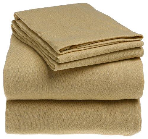 Royal Heritage Collection 100% Cotton Jersey Knit Sheet Set - Khaki King