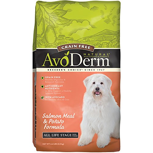 AvoDerm Natural Grain Free Salmon Meal and Potato Formula Dog Food, 4.4-Pound