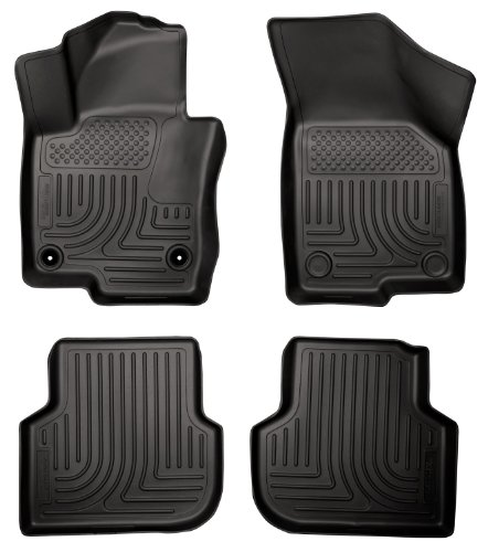 Husky Liners Custom Fit WeatherBeater Molded Front and Second Seat Floor Liner Set for Select Volkswagen Jetta Models (Black)