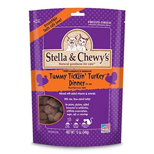 Stella & Chewy's Freeze-Dried Raw Tummy Ticklin' Turkey Dinner for Cats, 12 Oz.