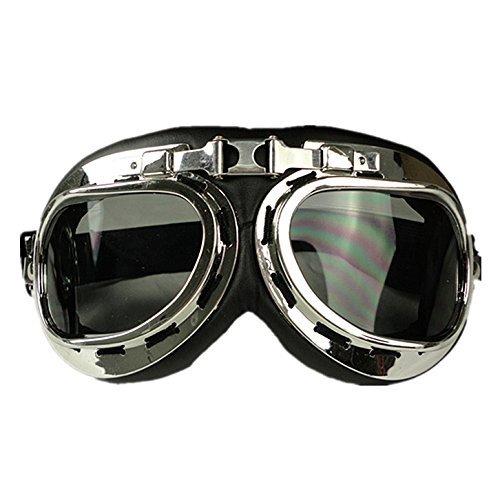 HAMIST WWII RAF Aviator Pilot Motorcycle Half helmet Goggles Smoke