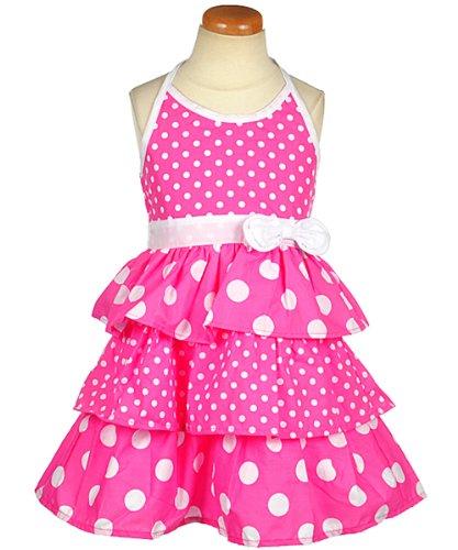 Sugah & Honey Dots & Halter Dress (Sizes 4 - 6X) - pink, 6