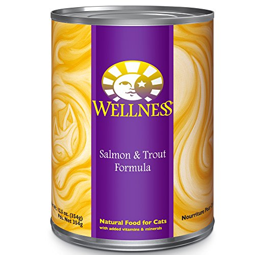Wellness Complete Health Salmon & Trout Natural Wet Canned Cat Food, 12.5-Ounce Can (Pack of 12)