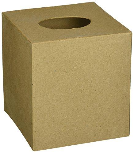 Paper Mache Tissue Box-5X5