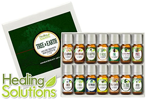 Top 14 Tree & Earth Essential Oils 100% Pure, Best Therapeutic Grade Aromatherapy Essential Oil Gift Set - 14/10 mL