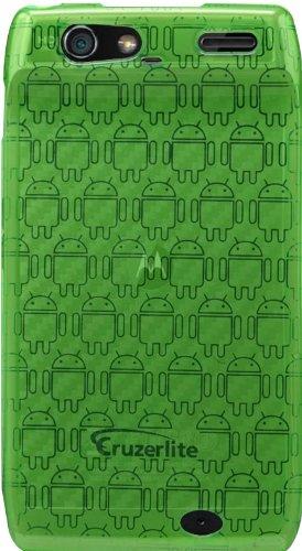 Green - Cruzer Lite Androidified High Gloss TPU Soft Gel Skin Case - For DROID RAZR by Motorola (Verizon Wireless) [Cruzer Lite Retail Packaging]
