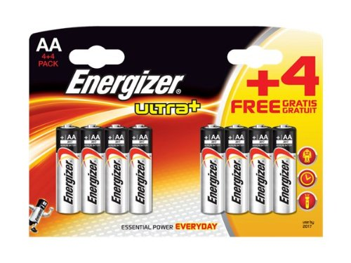 Energizer Ultra Plus Batteries AA 4 + 4 Free (8 Pack)