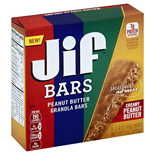 Jif Creamy Peanut Butter Bars, 5 Count