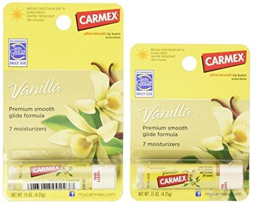 Carmex Vanilla Spf15 Moisturizing Lip Balm - 0.15 Oz (Pack of 12)