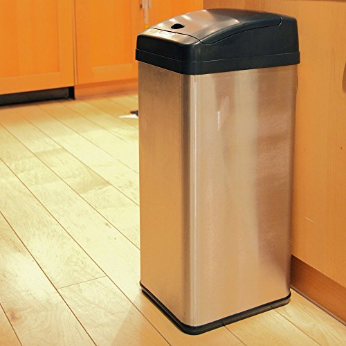 iTouchless IT13MX Trashcan MX Stainless Steel 13 gal. Trash Can