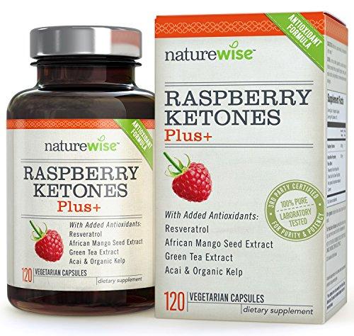 NatureWise Raspberry Ketones Plus+ Advanced Antioxidant Dual Action Formula, 2-4 Month Supply, Free Shipping to UK