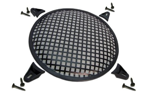 R/T 6 Steel Waffle Speaker Grill with Mounting Brackets and Screws