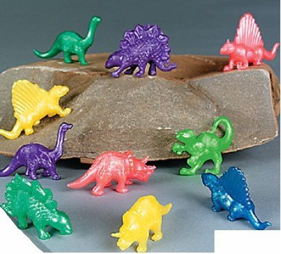 Pack of 6 Stretchy Colour Dinosaurs - Ideal Loot Party Bag Stocking Filler