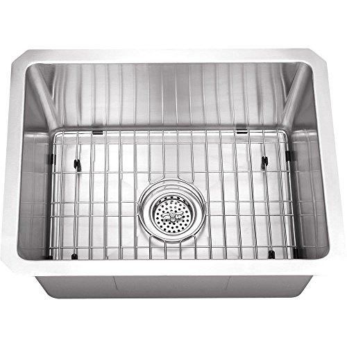 Schon SCRASB152016 Undermount 16-Gauge Zero Radius Single Bowl Bar Sink 15-Inch by 20-Inch, Stainless Steel