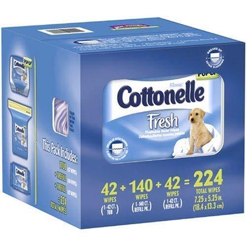 Kleenex Cottonelle Fresh Flushable Moist Wipes - Total: 224 ct.