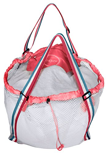 Raqpak Mesh Beach Bag Best for Kids, Baby Toys Foldable Extra Large and Sand Proof