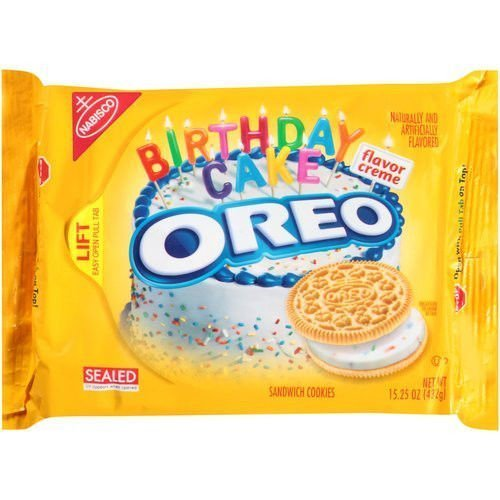 Oreo Golden Birthday Cake Cookies, Limited Edition 2 Pack by Nabisco [Foods]