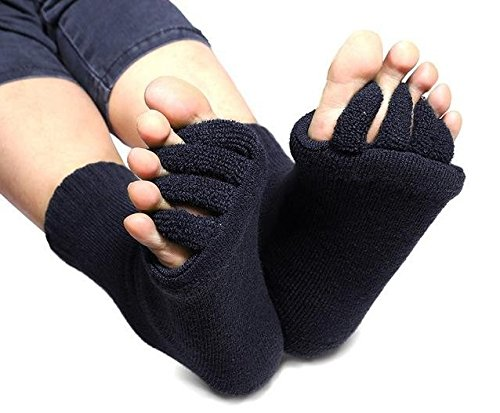 Bunion Socks From Cerkos: Unisex Comfy Toes Foot Alignment Socks, Pedicure Socks, Bunion Support Socks, Toe Separator Socks, Toe Socks, Five Finger Socks, Bunion Alignment Socks for Men/ Women