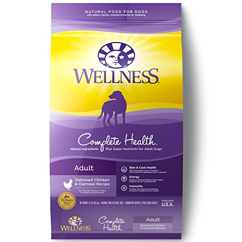 Wellness Complete Health Chicken & Oatmeal Natural Dry Dog Food, 15-Pound Bag