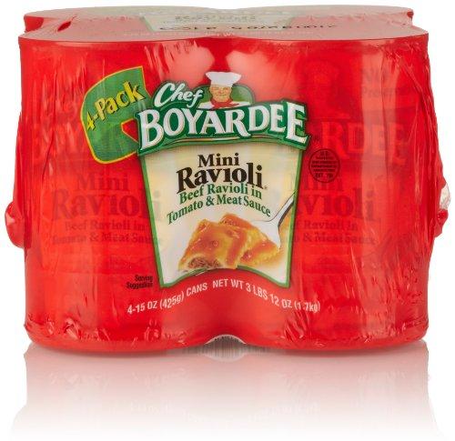 Chef Boyardee Ravioli, Mini, 4 Count