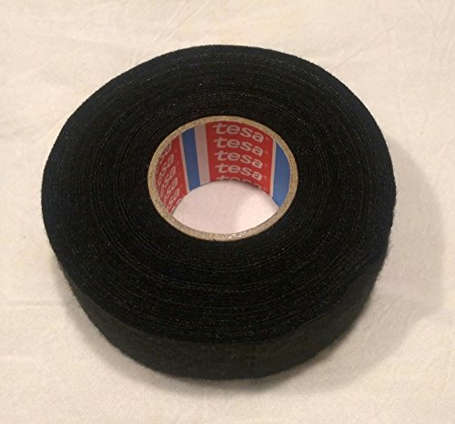 Tesa Super Thick .65mm Black Fuzzy Fleece Interior Wire Loom Harness Tape for VW, Audi, Mercedes, BMW 32 mm X 7.5 meters