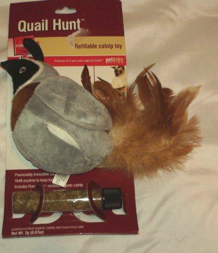 Quail Hunt Refillable Catnip Toy
